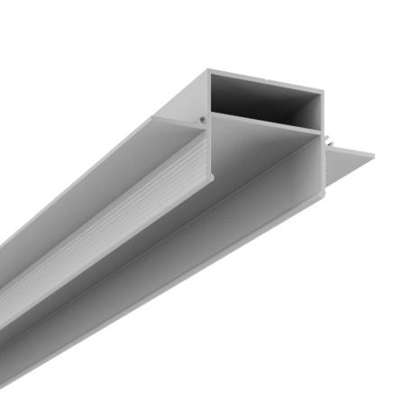 Профиль для монтажа шинной системы в натяжной потолок Denkirs TR3020-AL, серый, металл