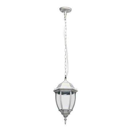 Подвесной светильник De Markt Фабур 2 804010801, IP44, 1xE27x5W, белый с золотой патиной, прозрачный, металл, металл со стеклом