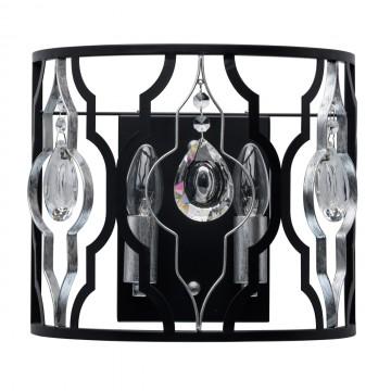 Бра MW-Light Альгеро 285022002, 2xE14x40W, черный, металл с хрусталем