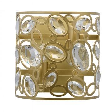 Бра MW-Light Лаура 345022602, перламутровый, прозрачный, металл, хрусталь