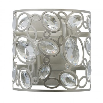 Бра MW-Light Лаура 345022702, перламутровый, прозрачный, металл, хрусталь