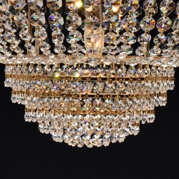 Подвесная люстра MW-Light Патриция 447011509, золото, прозрачный, металл, хрусталь - миниатюра 10