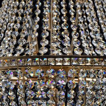 Подвесная люстра MW-Light Патриция 447011509, золото, прозрачный, металл, хрусталь - миниатюра 13