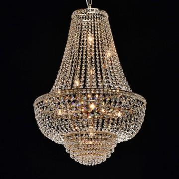 Подвесная люстра MW-Light Патриция 447011509, золото, прозрачный, металл, хрусталь - миниатюра 2