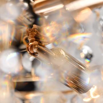 Подвесная люстра MW-Light Патриция 447011509, золото, прозрачный, металл, хрусталь - миниатюра 4
