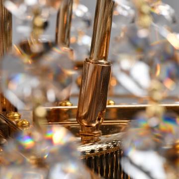 Подвесная люстра MW-Light Патриция 447011509, золото, прозрачный, металл, хрусталь - миниатюра 5