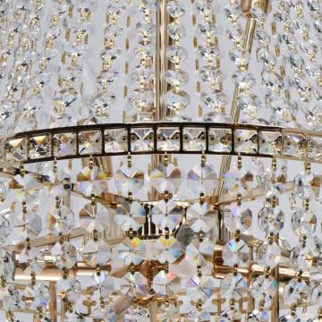 Подвесная люстра MW-Light Патриция 447011509, золото, прозрачный, металл, хрусталь - миниатюра 7