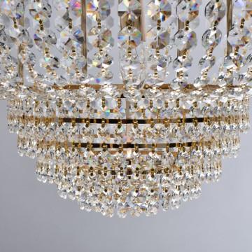 Подвесная люстра MW-Light Патриция 447011509, золото, прозрачный, металл, хрусталь - миниатюра 9