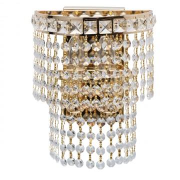Бра MW-Light Патриция 447021302, золото, прозрачный, металл, хрусталь
