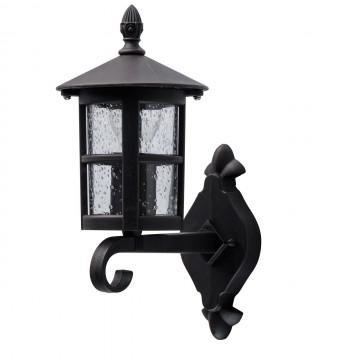 Настенный фонарь De Markt Телаур 806020801, IP44, коричневый, прозрачный, металл, стекло
