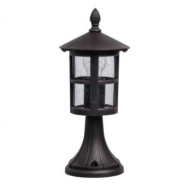 Садово-парковый светильник De Markt Телаур 806040901, IP44, коричневый, прозрачный, металл, стекло