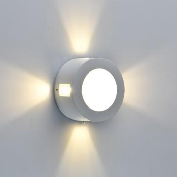 Настенный светильник De Markt Меркурий 807022801, IP44, белый, прозрачный, металл, пластик, стекло