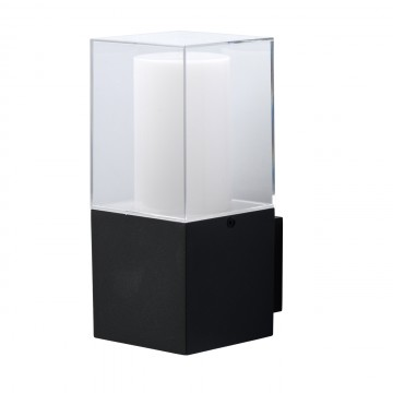Настенный светильник De Markt Меркурий 807023301, IP44, серый, белый, прозрачный, металл, пластик
