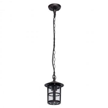 Подвесной светильник De Markt Телаур 806011001, IP44, 1xE27x60W, коричневый, прозрачный, металл, металл со стеклом