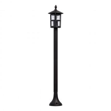 Уличный фонарь De Markt Телаур 806041101, IP44, 1xE27x60W, коричневый, прозрачный, металл, металл со стеклом