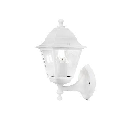 Настенный фонарь Maytoni Abbey Road O002WL-01W, IP44, 1xE27x60W, белый, белый с прозрачным, прозрачный с белым, металл, металл со стеклом, стекло с металлом