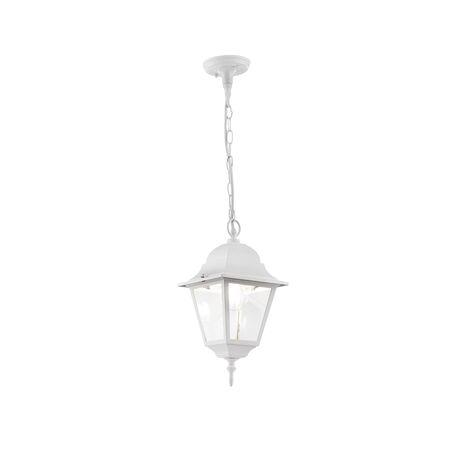 Подвесной светильник Maytoni Abbey Road O001PL-01W, IP44, 1xE27x60W, белый, прозрачный, металл, металл со стеклом