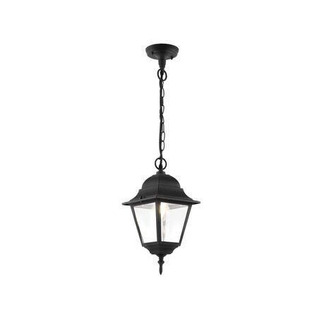 Подвесной светильник Maytoni Abbey Road O003PL-01B, IP44, 1xE27x60W, черный, металл, металл со стеклом, стекло с металлом