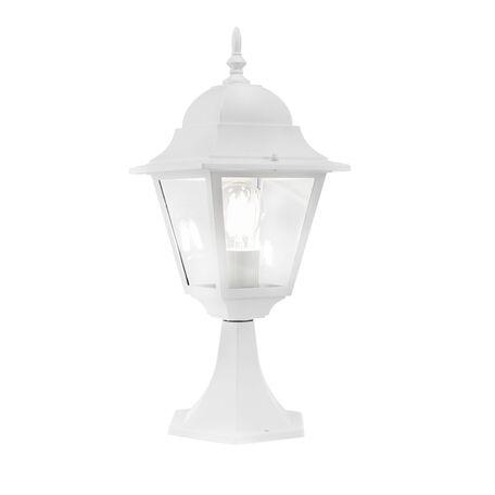 Садово-парковый светильник Maytoni Abbey Road O002FL-01W, IP44, 1xE27x60W, белый, белый с прозрачным, прозрачный с белым, металл, металл со стеклом, стекло с металлом