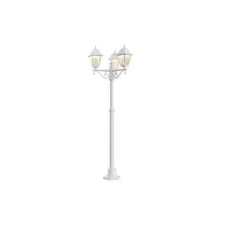 Уличный фонарь Maytoni Abbey Road O001FL-03W, IP44, 3xE27x60W, белый, белый с прозрачным, прозрачный с белым, металл, металл со стеклом, стекло с металлом