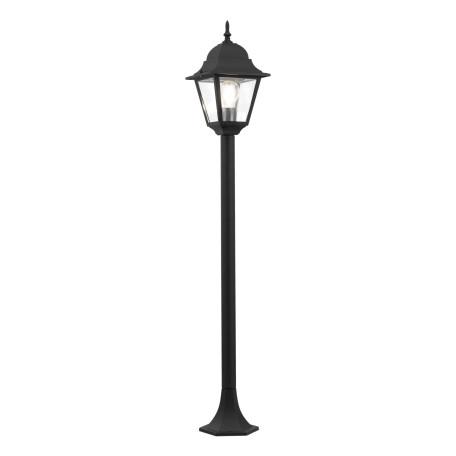 Уличный фонарь Maytoni Abbey Road O003FL-01B, IP44, 1xE27x60W, черный, металл, металл со стеклом, стекло с металлом
