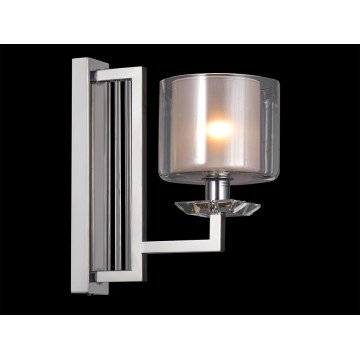 Бра Newport 4400 4401/A (М0057163), 1xE14x60W, хром, прозрачный, металл со стеклом, стекло