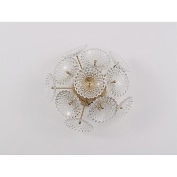 Настенный светильник Newport 66003/А (М0057476), 3xG9x40W, золото, прозрачный, металл, стекло