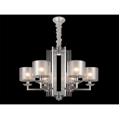 Подвесная люстра Newport 4400 4406+1/C (М0057160), 6xE14x60W + LED 10W, хром, прозрачный, металл со стеклом, стекло