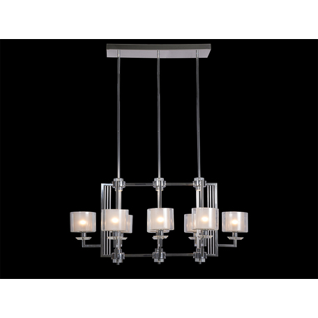 Подвесная люстра Newport 4400 4408/S (М0057156), 8xE14x60W + LED 30W, хром, прозрачный, металл со стеклом, стекло