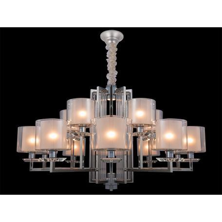 Подвесная люстра Newport 4400 4410+5/C (М0057161), 15xE14x60W + LED 10W, хром, прозрачный, металл со стеклом, стекло