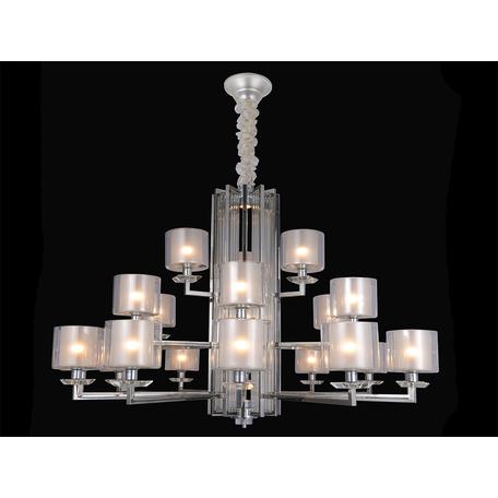 Подвесная люстра Newport 4400 4412+6+3/C (М0057162), 21xE14x60W + LED 10W, хром, прозрачный, металл со стеклом, стекло