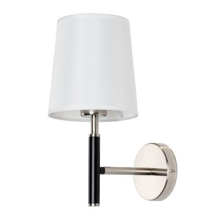Бра Arte Lamp Rodos A2589AP-1SS, 1xE27x60W, черный, белый, металл, текстиль