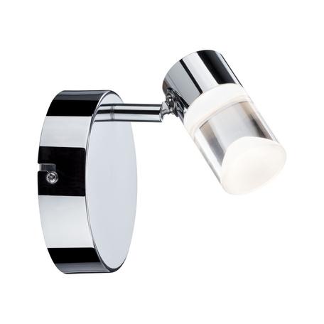 Настенный светодиодный светильник с регулировкой направления света Paulmann Zala 50096, LED 6W, хром, металл, пластик