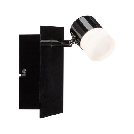 Настенный светодиодный светильник с регулировкой направления света Paulmann Deon 50098, LED 6,5W, черный хром, металл, металл с пластиком