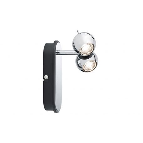 Настенный светодиодный светильник с регулировкой направления света Paulmann Sphere 60038, LED 10W, металл