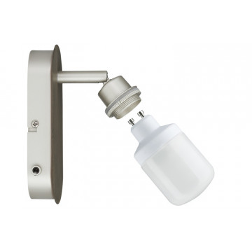 Основание настенного светильника с регулировкой направления света Paulmann DecoSystems 60061, 1xGU10x9W, металл