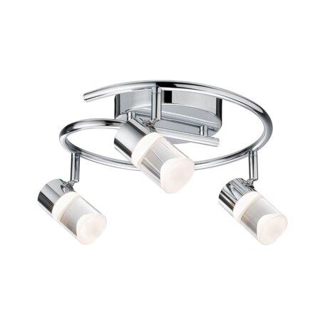 Потолочная светодиодная люстра с регулировкой направления света Paulmann Zala 50097, LED 18W, хром, металл, пластик