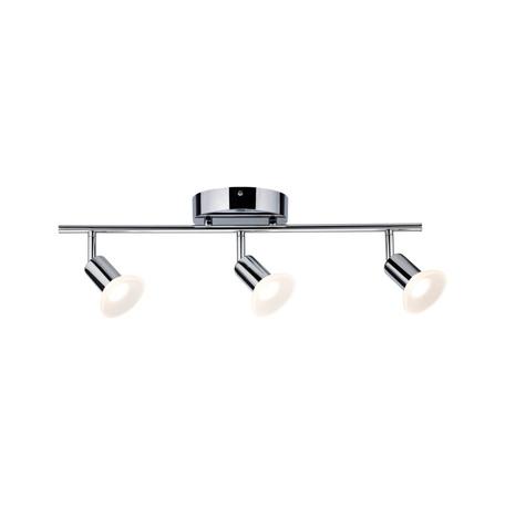 Потолочный светодиодный светильник с регулировкой направления света Paulmann Porto 50075, LED 13,5W, хром, белый, металл, пластик