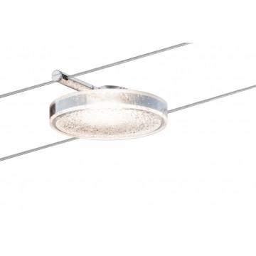 Светодиодный светильник для тросовой системы Paulmann Set DiskLED II 50114, LED 4W, прозрачный, металл, пластик