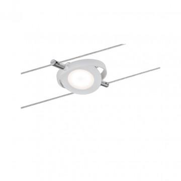 Светодиодный светильник с регулировкой направления света для тросовой системы Paulmann Set RoundMac 50111, LED 4W, белый, металл, металл с пластиком