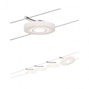Тросовая система освещения Paulmann DiskLED I 50109, LED 16W, хром, белый, металл, пластик