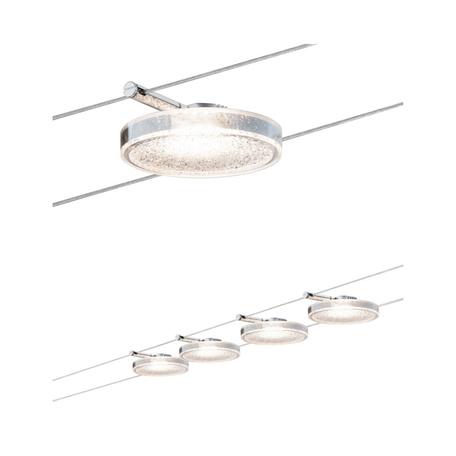 Тросовая система освещения Paulmann DiskLED II 50110, LED 16W, прозрачный, металл, пластик