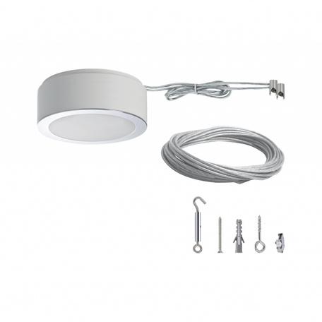 Тросовый токопровод в сборе с комплектующими Paulmann Set Basic 50115, матовый хром, металл
