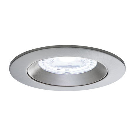 Встраиваемый светодиодный светильник Paulmann Nova Plus Lens RGBW 50068, IP44, LED 4,8W, матовый хром, металл