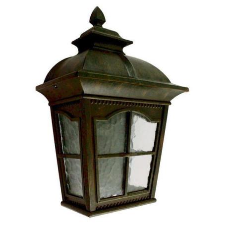 Настенный фонарь L'Arte Luce Royston L76130.91, IP23, 1xE27x100W, коричневый, прозрачный, металл, стекло