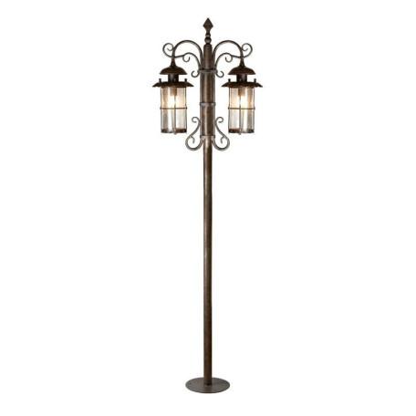 Уличный фонарь L'Arte Luce Genova L70791.07, IP23, 2xE27x100W, металл, стекло
