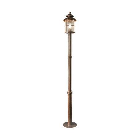 Уличный фонарь L'Arte Luce Genova L70792.07, IP43, 1xE27x100W, коричневый, прозрачный, металл, стекло