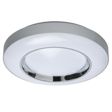 Потолочный светодиодный светильник с пультом ДУ De Markt Ривз 674016801, LED 36W 3000-6000K, серебро, хром, металл, пластик