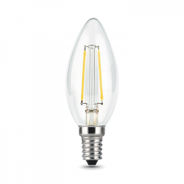 Филаментная светодиодная лампа Gauss 103801109 свеча E14 9W, 2700K (теплый) CRI>90 150-265V, гарантия 3 года - миниатюра 2