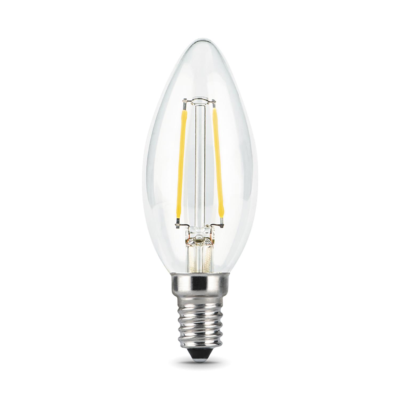 Филаментная светодиодная лампа Gauss 103801109 свеча E14 9W, 2700K (теплый) CRI>90 150-265V, гарантия 3 года - фото 2